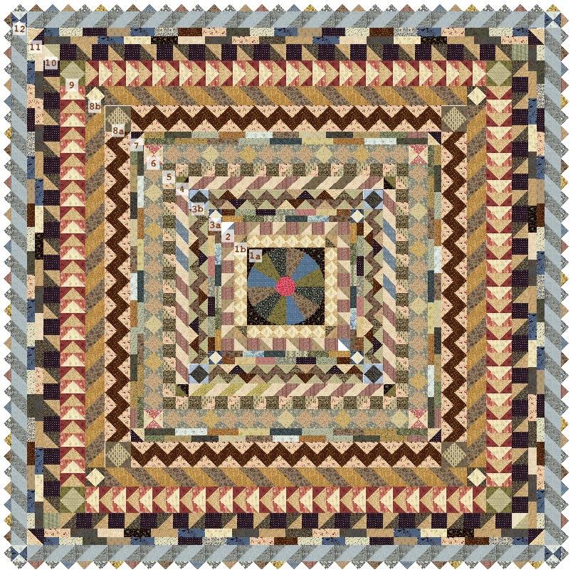 Medallion Quilt-Along   Bloomin' Workshop : medallion quilt - Adamdwight.com