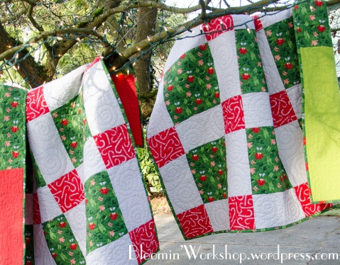 green-christmas-quilts