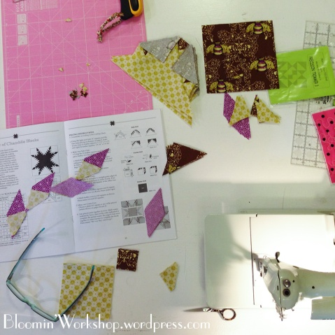 piecing-feathered-star