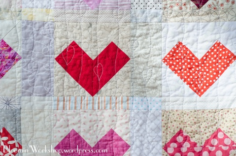 Heart quilting